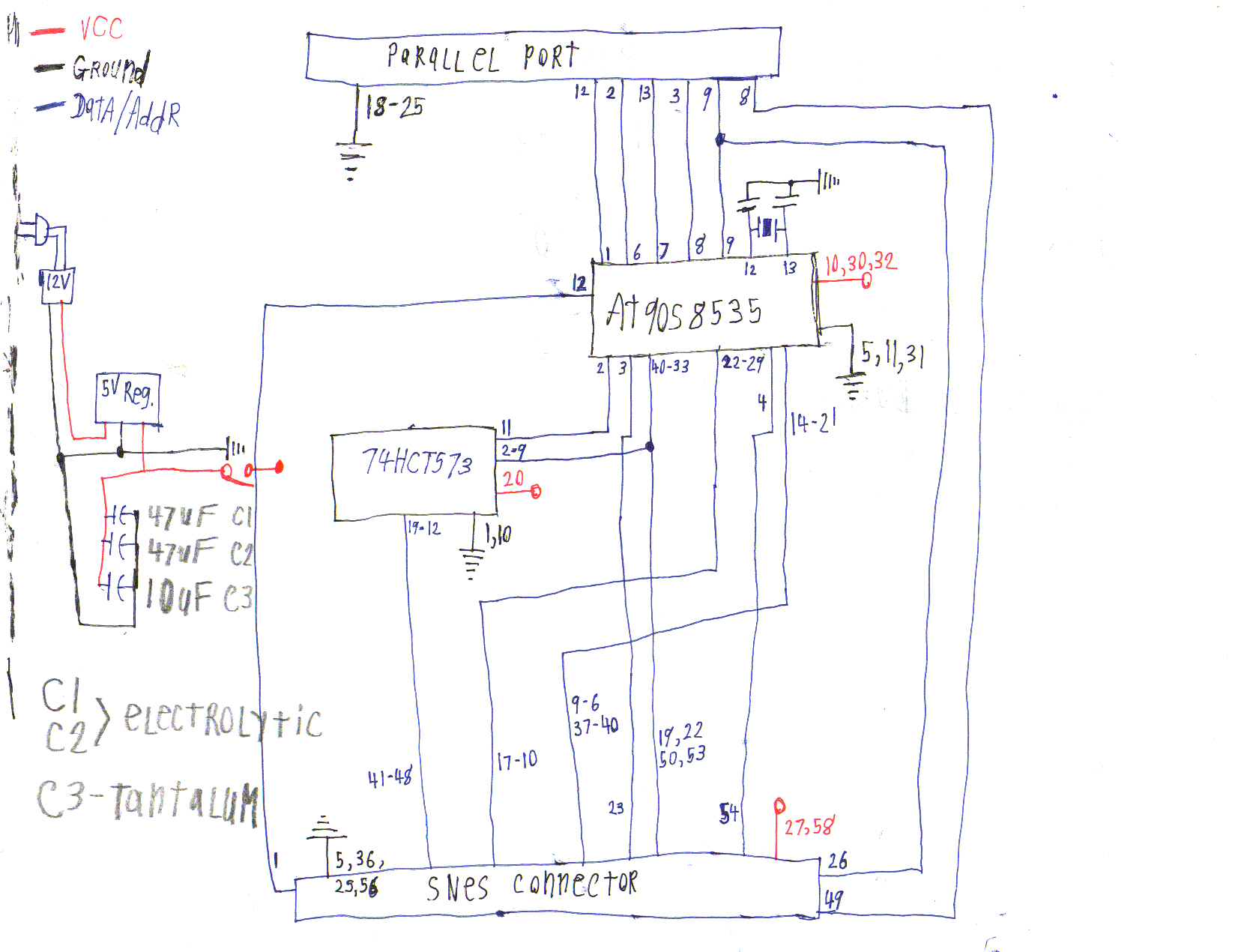 Snes Cart Programmer Schematics Power Supply Archives Electronic Circuit Diagram Seems This Hand Drawn Schematic Refuses To Die It Was Found In The Archiveorg Wayback Machine Here